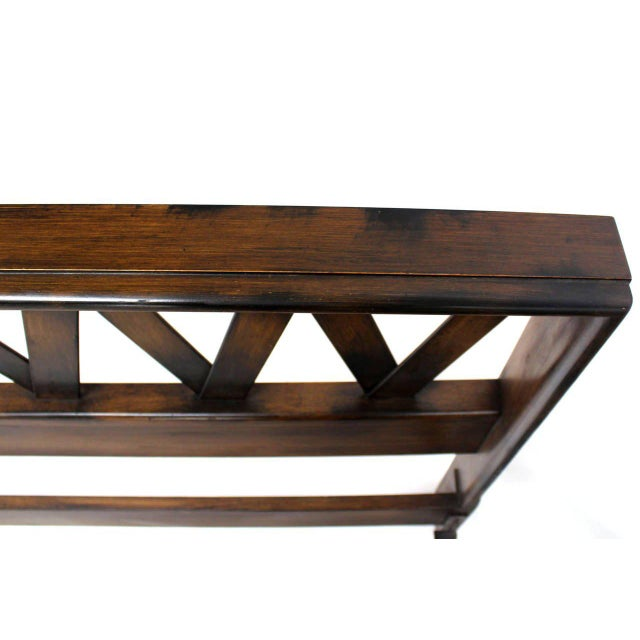 Mid-Century Modern Paul Frankl Lattice Full Bed Frame For Sale - Image 3 of 9