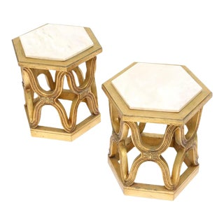 Pair of Giltwood Side Tables For Sale