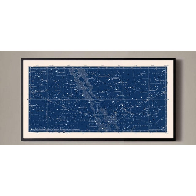Large Antique Nautical Blue Constellation Celestial Print For Sale - Image 4 of 4