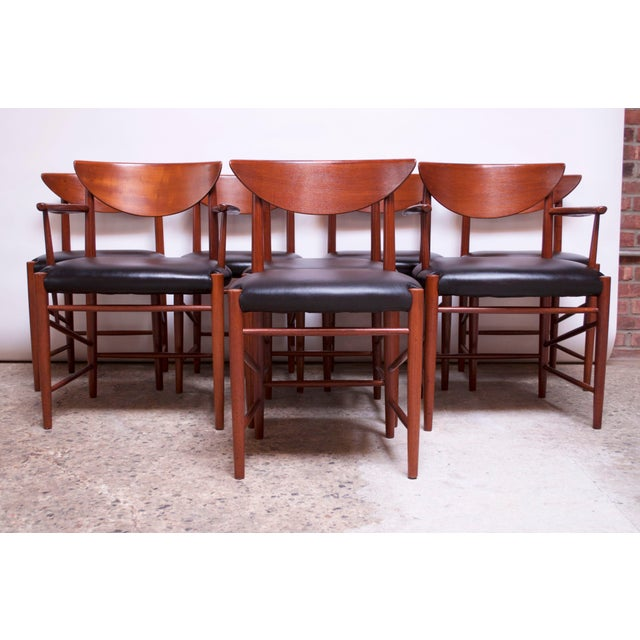 Teak Dining Chairs by Peter Hvidt and Orla Mølgaard Nielsen - Set of 8 For Sale - Image 13 of 13