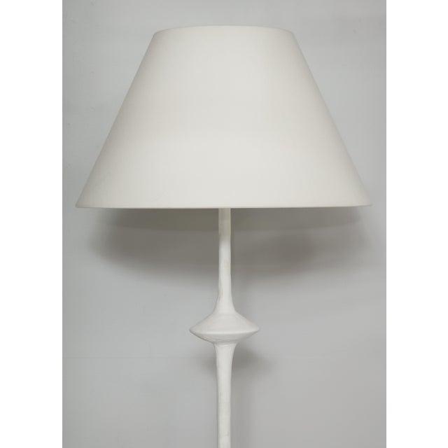 Alberto Giacometti Custom Plaster Floor Lamp in the Giacometti Manner For Sale - Image 4 of 11