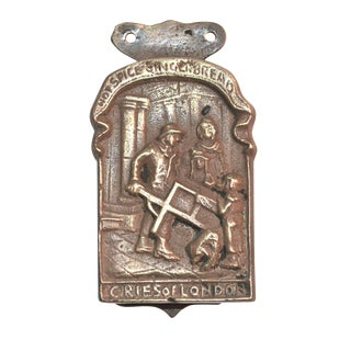 Gingerbread Seller Brass Door Knocker