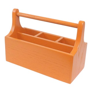 Orange Wooden Mail Holder
