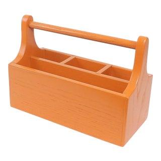 Orange Wooden Mail Holder For Sale