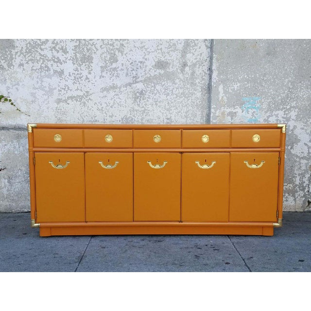 Americana Drexel Almond Credenza Buffet For Sale In Los Angeles - Image 6 of 6