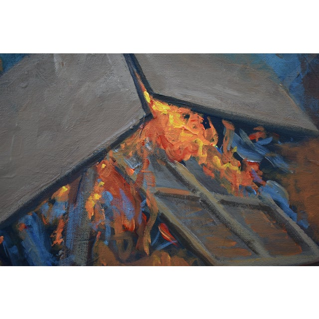 "2020s ""Burning Old Paintings"" Contemporary Painting by Stephen Remick For Sale - Image 5 of 13"