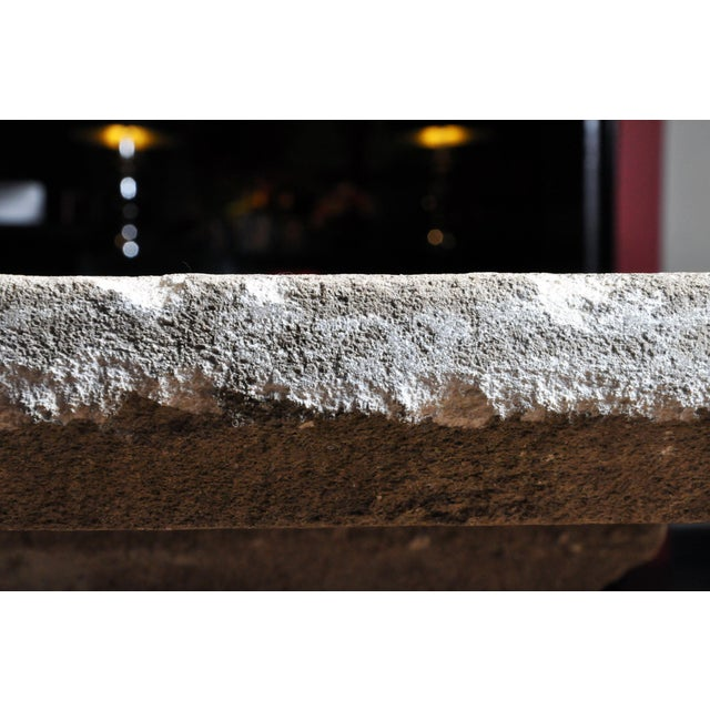 Stone 19th Century Limestone Garden Table For Sale - Image 7 of 13