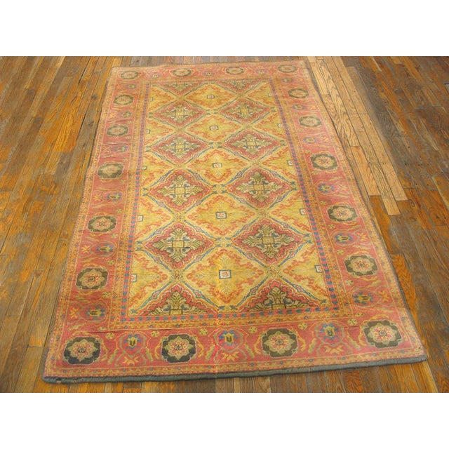 Vintage 1920s Indian Cotton Agra Rug - 4'x7' For Sale - Image 4 of 5