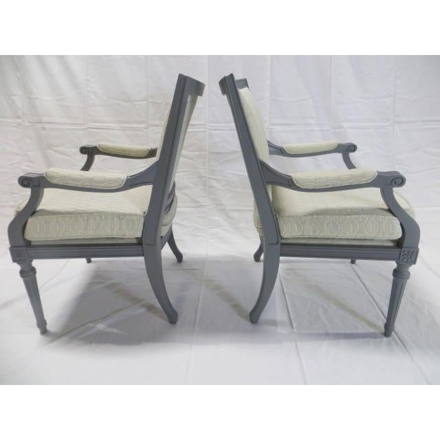 French Directoire Side Chairs - A Pair For Sale - Image 4 of 11