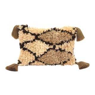 Large Moroccan Beni Ourain Pillow For Sale