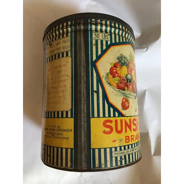 Vintage Sunshine Brand Fruit Tin For Sale - Image 4 of 11