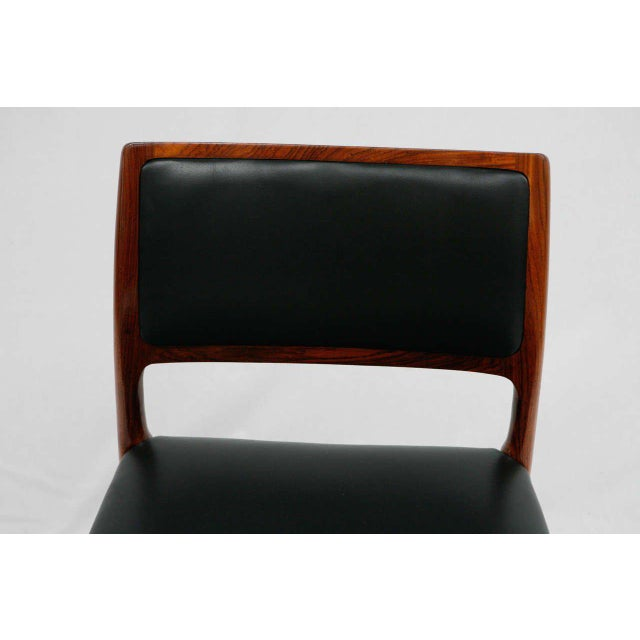 1960s Set Of 6 Rosewood Niels Moller Dining Chairs For Sale - Image 5 of 9