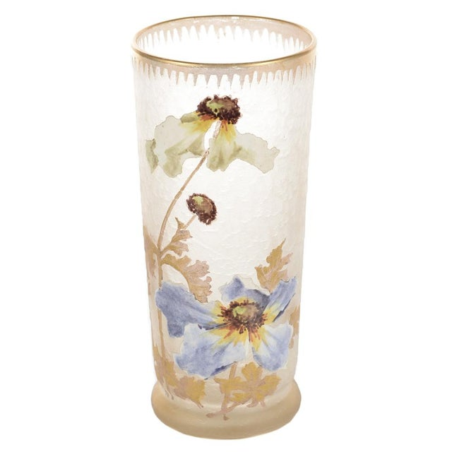Legras Mont Joye Art Nouveau Painted Vase - Image 1 of 8