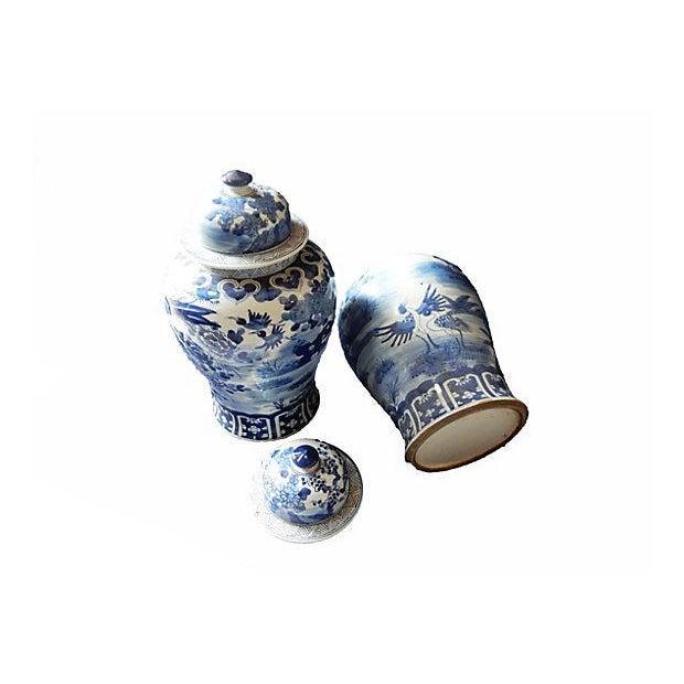 Blue & White Lidded Ginger jars, Pair - Image 5 of 6