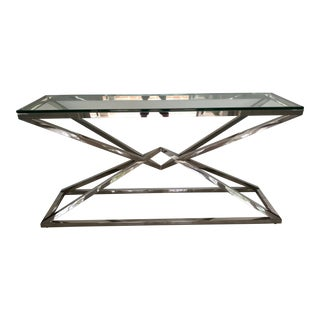 Restoration Hardware Empire Console Table in Stainless Steel