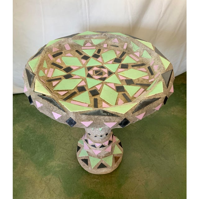 Vintage Malibu Tile Bird Bath For Sale - Image 10 of 13