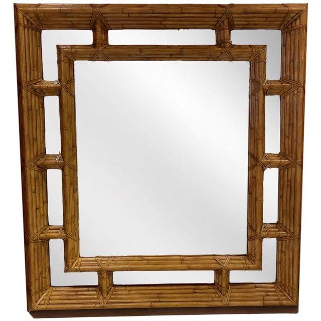 Vintage Kreiss Rattan Mirror For Sale - Image 11 of 11