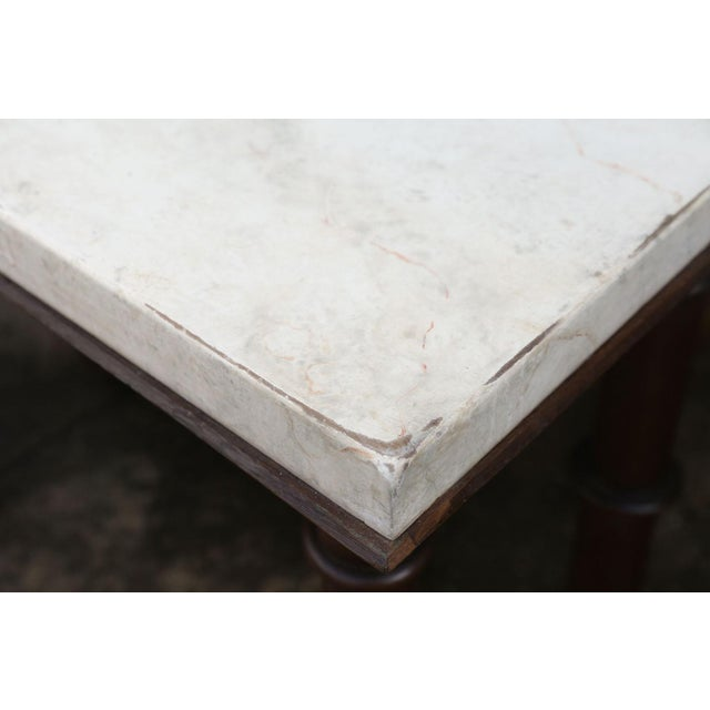 Gray Faux Marble-Top Console For Sale - Image 8 of 10