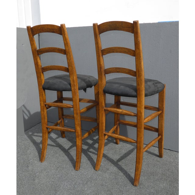 Minton Spidell French Country Black Bar Stools - Image 6 of 11