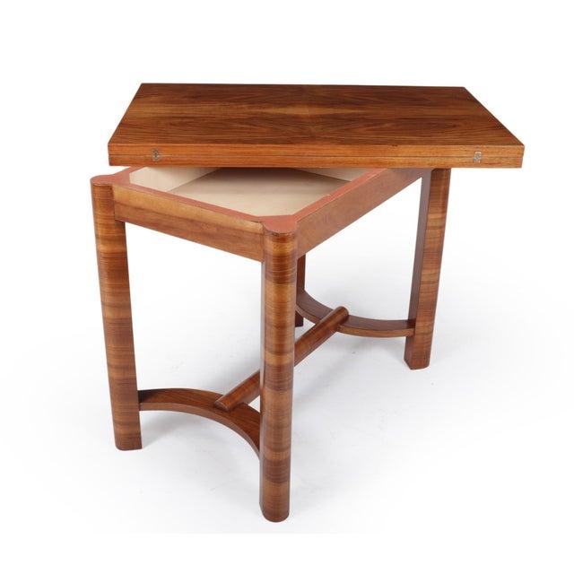 Art Deco 1930s Art Deco Walnut Folding Tea Table For Sale - Image 3 of 12