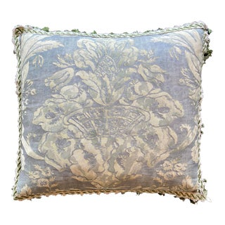 Fortuny Pillow With Tassel Fringe For Sale
