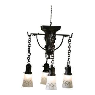 Hammered Arts & Crafts Ceiling Light