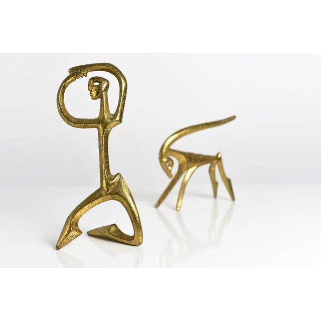 Frederick Weinberg Frederic Weinberg Modernist Bronze Sculptures, 1950s For Sale - Image 4 of 6