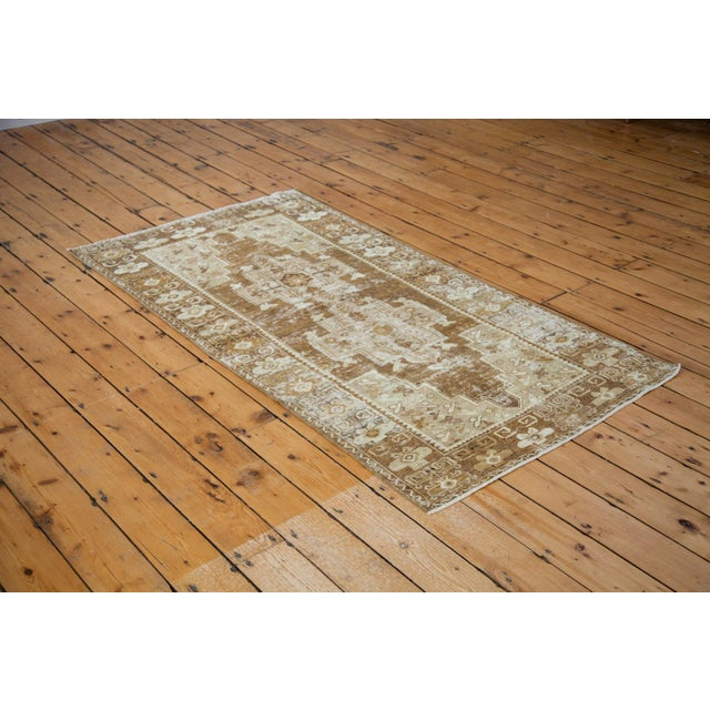 """Distressed Oushak Rug Runner - 3'6"""" X 6'9"""" For Sale In New York - Image 6 of 8"""