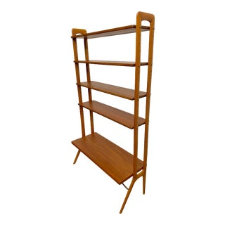 Kurt Ostervig Danish Teak Adjustable Bookshelf and Room Divider For Sale