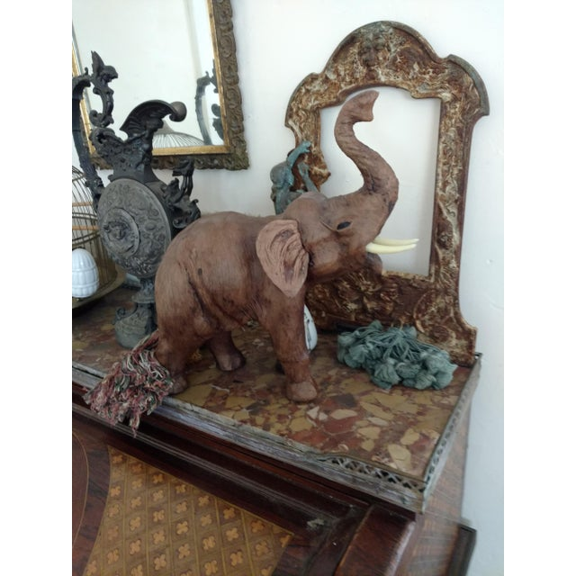 Vintage African Leather Elephant For Sale - Image 9 of 10