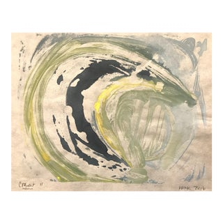 """Crescent Moon II"" Monotype Print For Sale"
