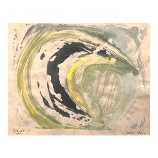 """Crescent Moon II"" Monotype Print"