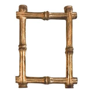 Vintage Florentia Italy Gold Gilt Faux Bamboo Mirror
