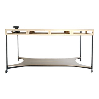 Contemporary Wooden Maker Table For Sale