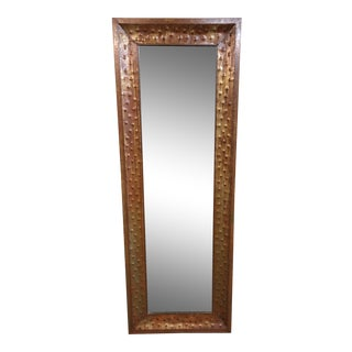 Hammered Copper Standing Mirror For Sale