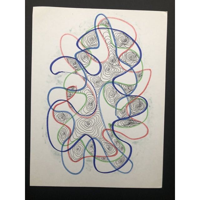 Mid-Century Modern 1991 Atomic Drawing by William Glen Davis For Sale - Image 3 of 6
