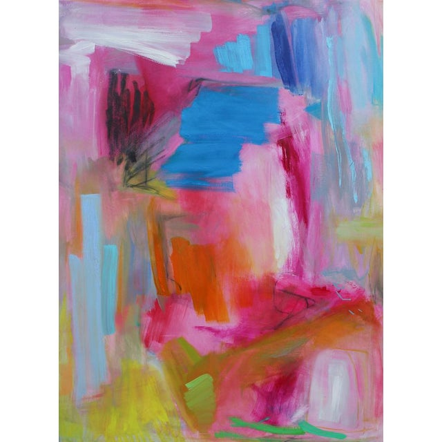 """Large Abstract Oil Painting by Trixie Pitts """"Florida Feeling"""" For Sale - Image 10 of 10"""