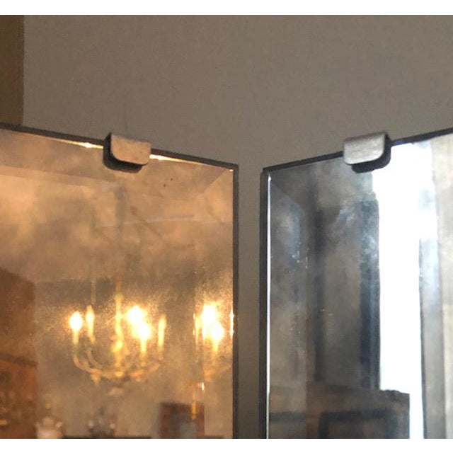 1960s Mid Century Hollywood Regency Smoked Glass Three Way Mirror For Sale - Image 4 of 10