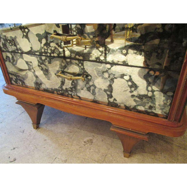 Glass Whimsical Italian Mirrored Chest of Drawers For Sale - Image 7 of 9