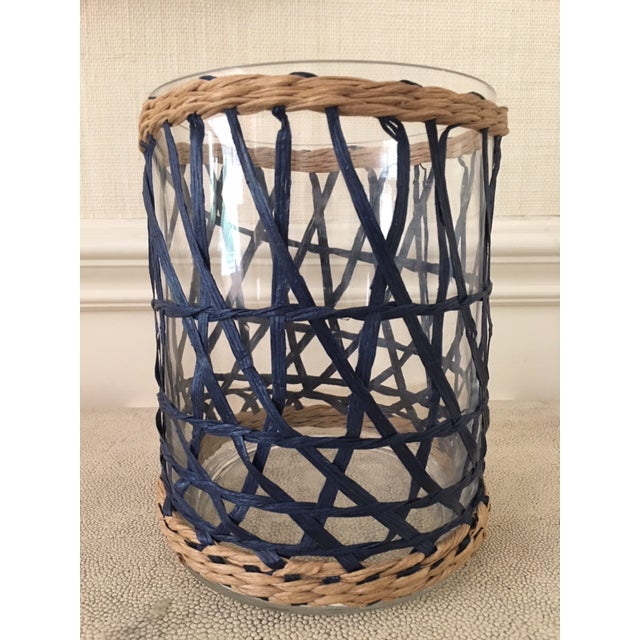 2010s Amanda Lindroth Rattan Covered Hurricane For Sale - Image 5 of 6