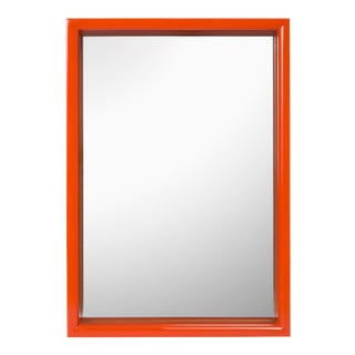 Pentreath & Hall Collection Small Rectangular Mirror in Chartrueses / Orange For Sale