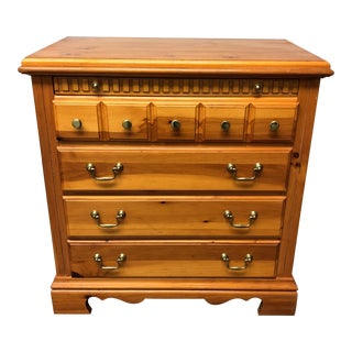 Rustic Knotty Pine Side Chest of Drawers