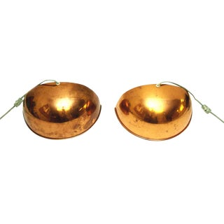 Mid-Century Copper Plated Sconces - a Pair For Sale