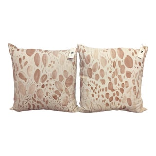 Rebecca Atwood Blooms Pillow in Multi Blush - A Pair For Sale