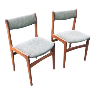 Danish Modern Teak Chairs - a Pair For Sale