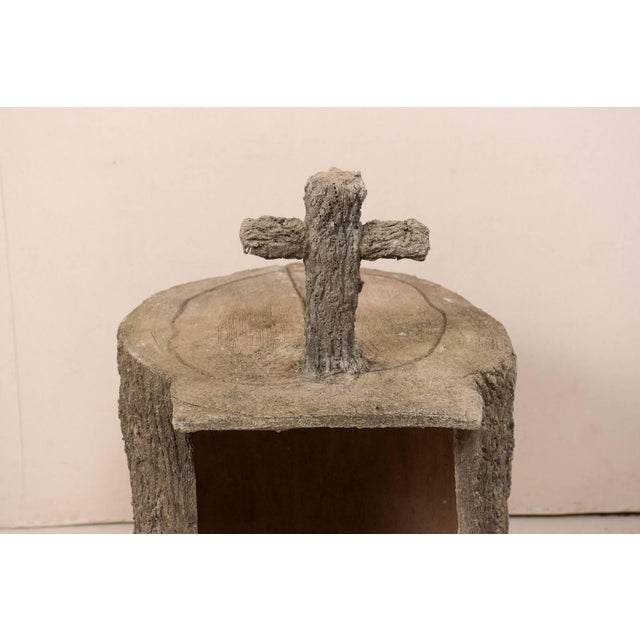 Tree-Trunk Style Faux Bois Alter/Niche Attributed to Popular Artist Dionicio R For Sale - Image 4 of 12
