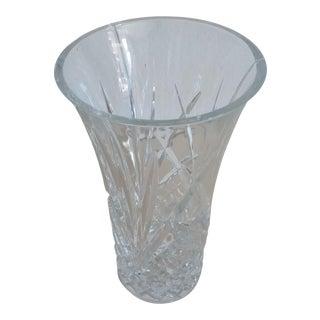 1970s Crystal Glass Vase For Sale