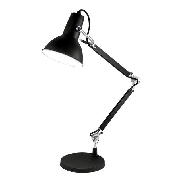 Not Yet Made - Made To Order Satin Black With Aluminium Accents Adjustable Desk Lamp For Sale - Image 5 of 5