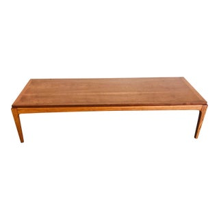 1960s Mid Century Modern Lane Furniture Long Low Walnut Coffee Table
