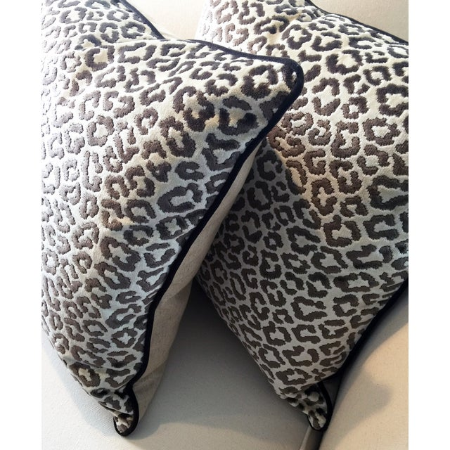 Lee Jofa High End Leopard Velvet Pillows - A Pair - Image 7 of 7